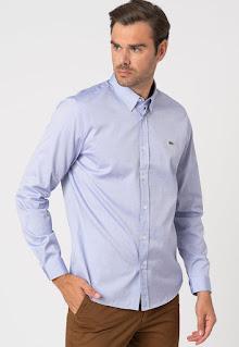 Lacoste - Мъжка памучна Риза с каре