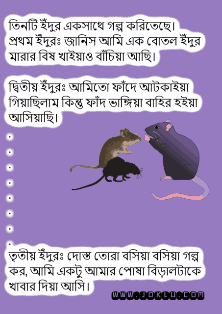 Three rats Bengali short joke