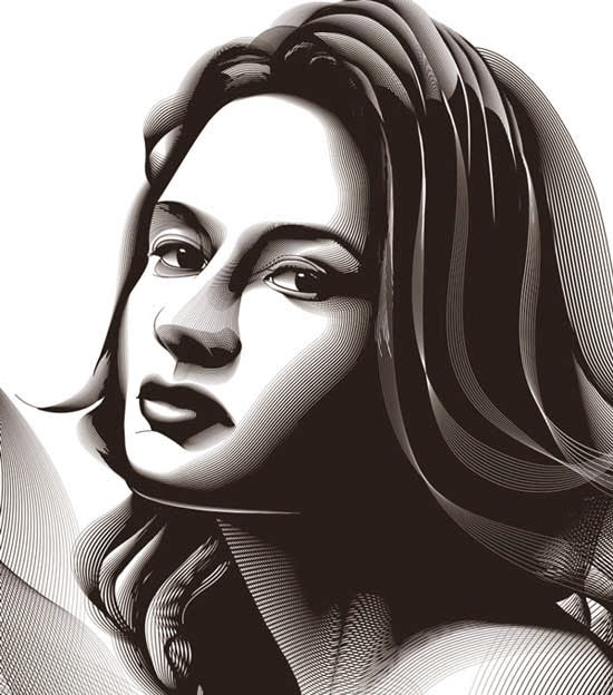 Using the Blend Tool to Create a Halftone Effect Portrait
