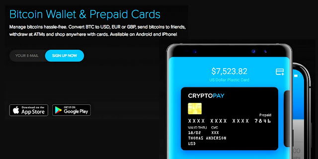 Debit Bitcoin card - cryptopay.me