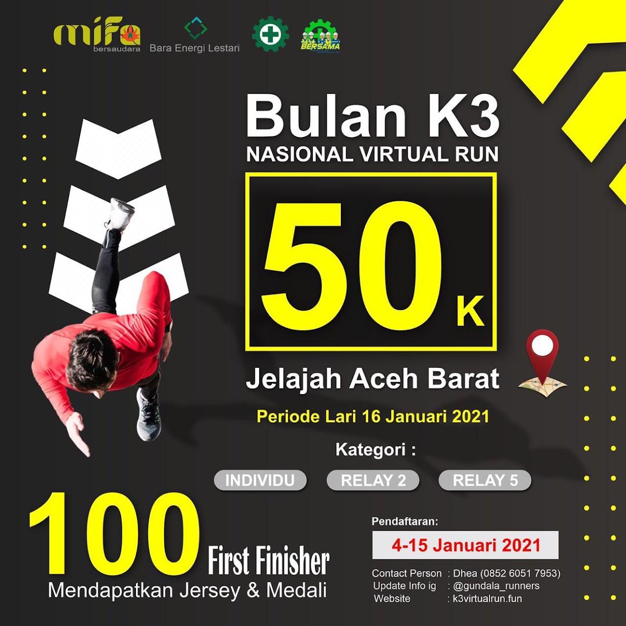 Virtual Run Bulan K3 MIFABEL 50K • 2021