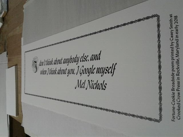 I don't Google anybody else, and when I think about you, I Google myself (Mel Nichols)