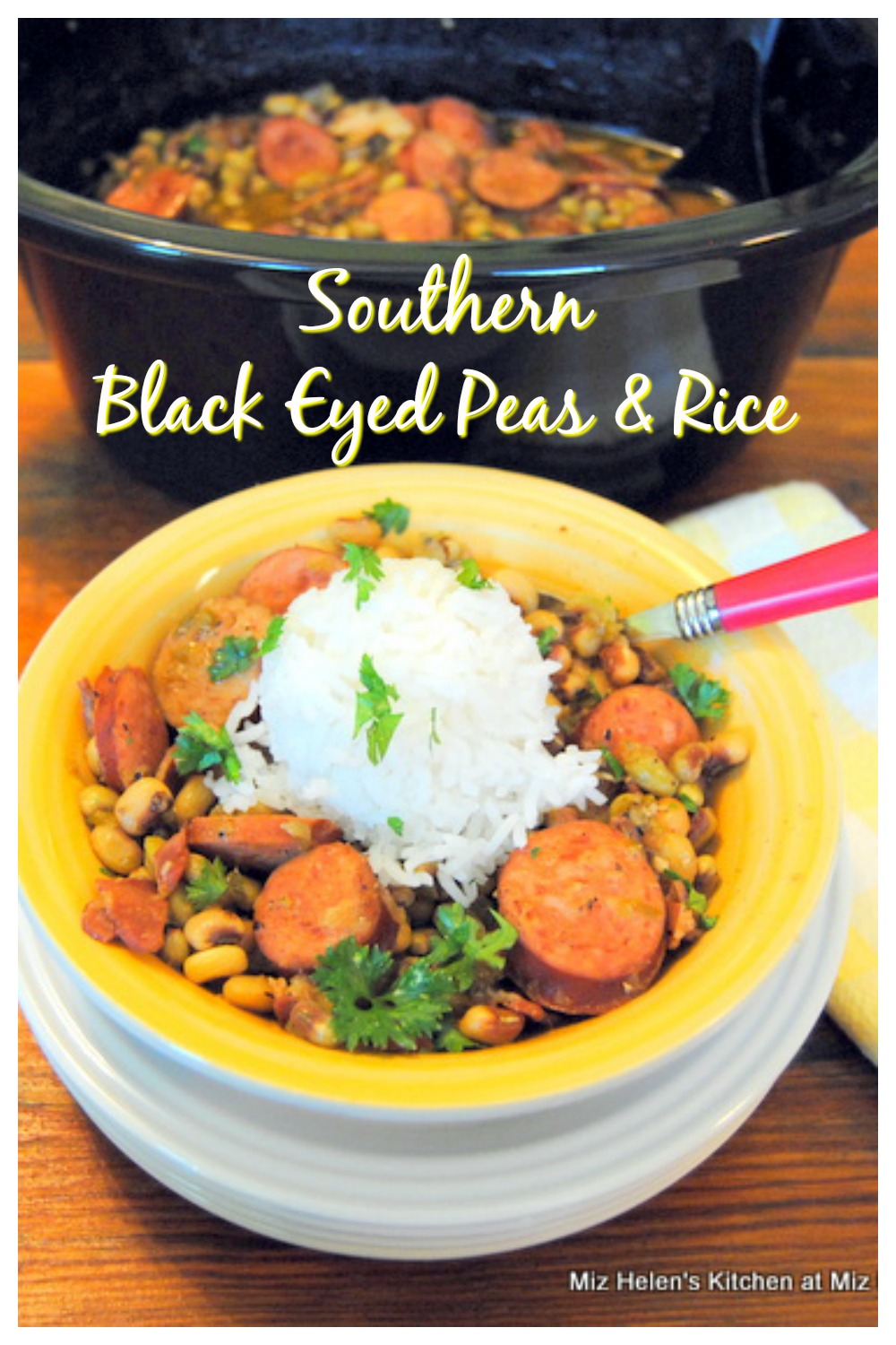 Slow Cooker Southern Black Eyed Peas & Rice