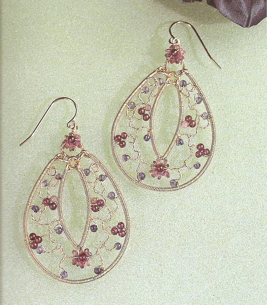 Book Review and Free Tutorials - A Bounty of Bead and Wire Earrings ...