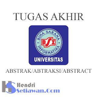 Contoh ABSTRAK/ABTRAKSI Tugas Akhir UBSI