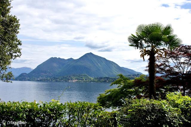 Splendida vista sul Lago Maggiore dal Parco Pallavicino