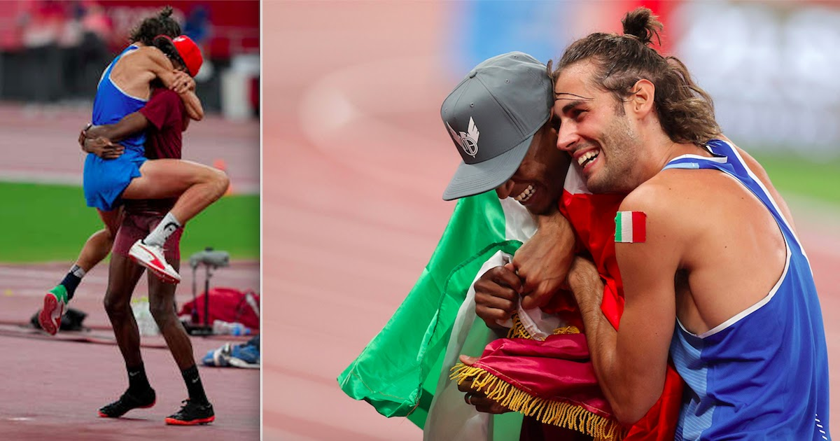 Olympic High Jumpers Mutaz Essa Barshim From Qatar And Gianmarco Tamberi From Italy, Decide To Share Gold Medal