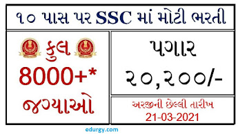 Staff Selection Commission (SSC) Recruitment for Multi Tasking Staff (MTS) Posts 2021