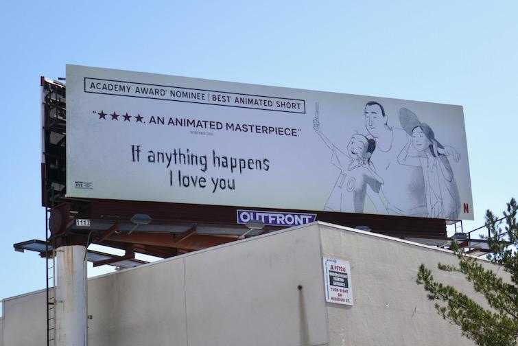 If Anything Happens I Love You Oscar billboard