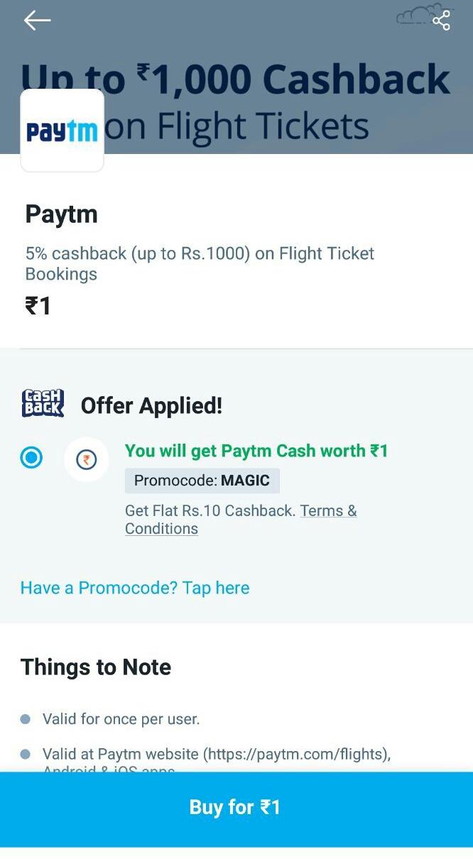 Paytm Magic Code Working 2 Time Total Profit 20 Cashback