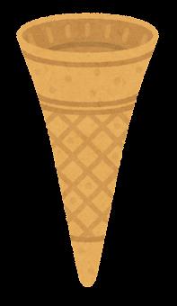 アイスのコーンのイラスト(コーン1)