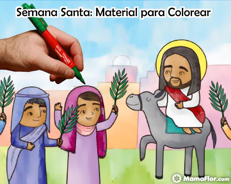 Semana Santa Imprimibles para Colorear