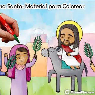 Semana Santa para Imprimir y Colorear en Alta Calidad