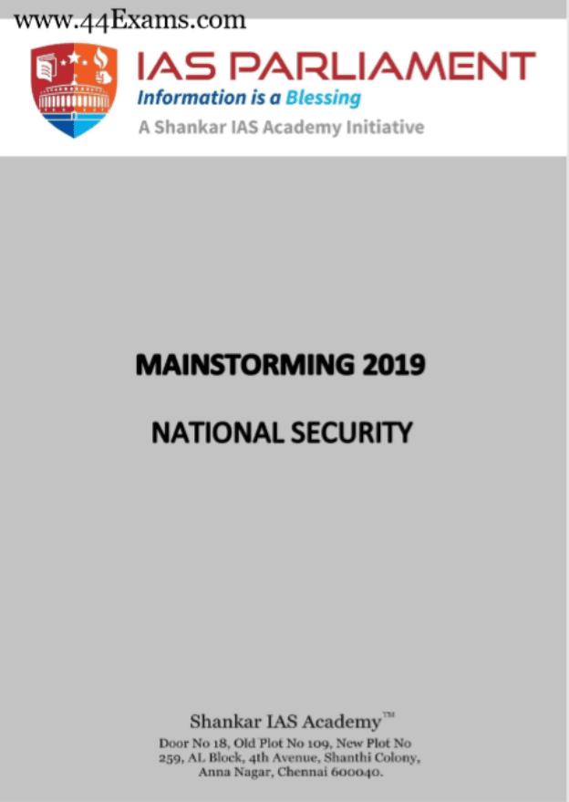 Shankar-IAS-National-Security-2019-For-UPSC-Mainstorming-PDF-Book