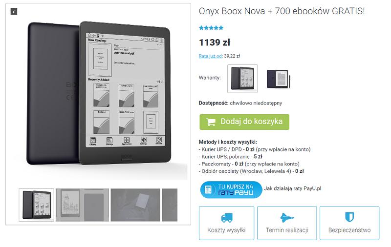 Onyx Boox Nova na czytio.pl