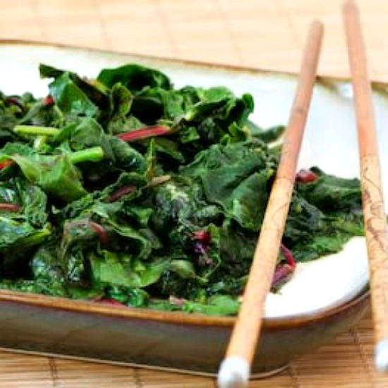 Kalyn's Kitchen®: Spicy Stir-Fried Radish Greens and / or Swiss Chard