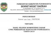 Hasil SKD CPNS Pemerintah Kabupaten Purwakarta Formasi Tahun 2019
