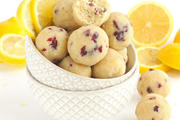 CRANBERRY LEMON BITES [ PALEO / VEGAN ]