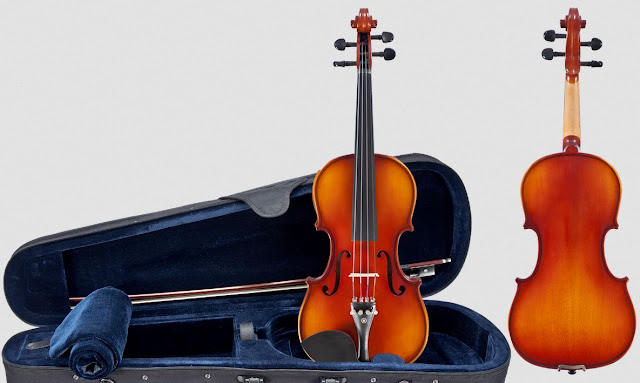 The violin is the smallest instrument in the group of string quartet. Violins typically play the note with highest pitch in the music. Viola looks very identical to the violin played in the same manner by resting the instrument under the player's chin. However, Viola is built slightly larger in size than a violin and it has a broader and deeper tone.