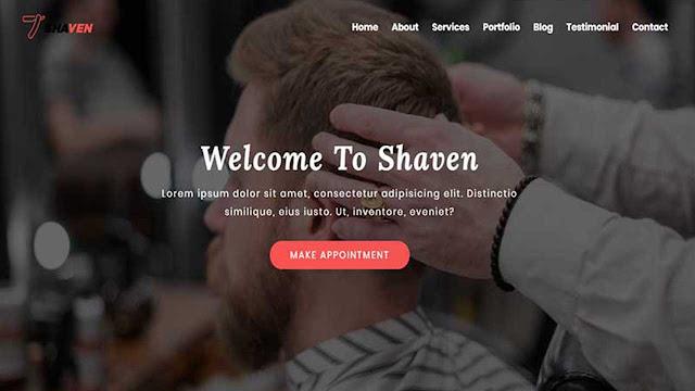Shaven - Barber shop html Landing Page Template