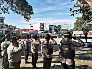 Pj. Bupati Labuhanbatu Ikuti Apel Gabungan Pasukan Pengamanan PSU