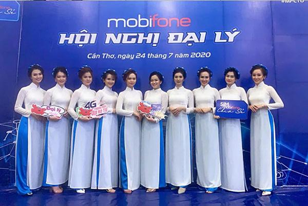 Mẫu đồng phục áo dài Mobifone
