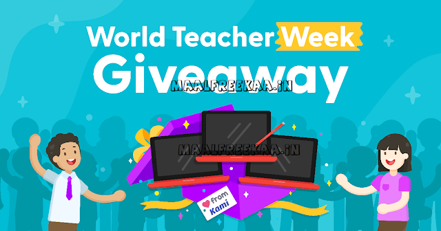 World Teacher Day Giveaway You Can WIN BIG Prizes