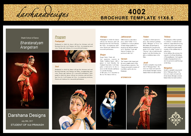 Darshanadesigns Arangetram Brochure Templates