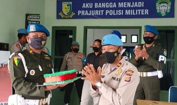 Jalin Sinergitas, Propam Polres Bener Meriah Kunjungi Markas Polisi Militer