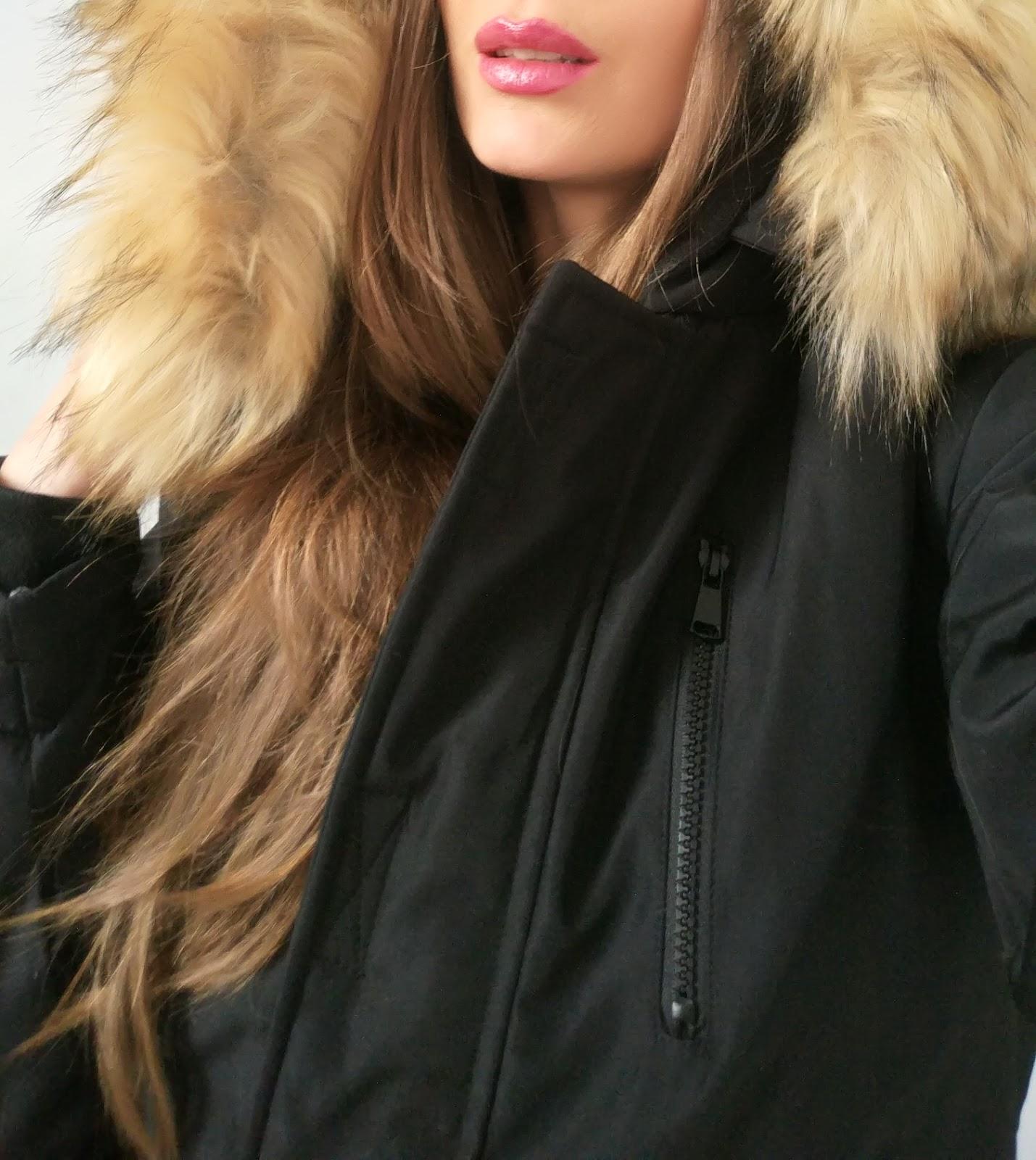 33e4c9d9e35e Kurtka Damska Ocieplana Kaptur z Futerkiem Jenot Prosta Hit Najnowszy Model  na Wiosnę Jesień Zimę 2016   2017 model  119 FASHIONAVNUE.PL