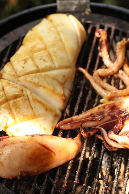 calamar au barbecue