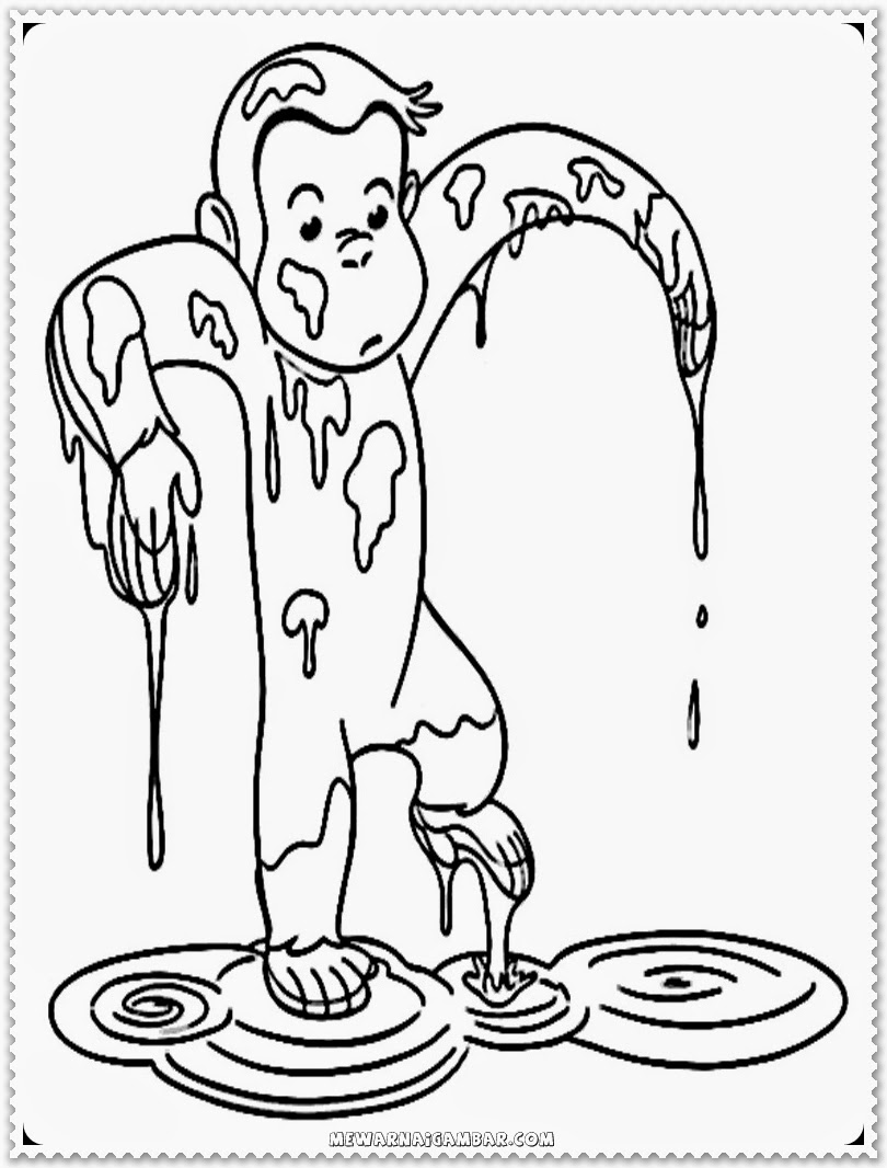 Curious George Free Printable Kids Coloring Pages