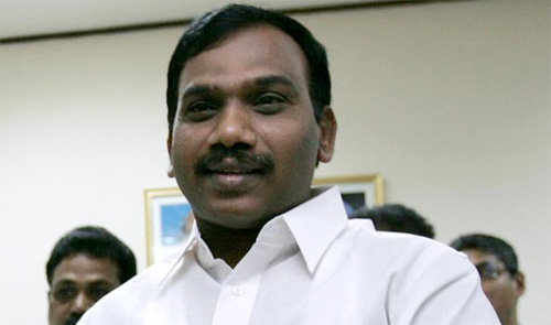 Attack on DMK leader A Raja with eggs, shoes