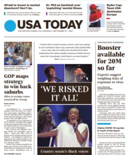 USA Today Magazine 27 September 2021