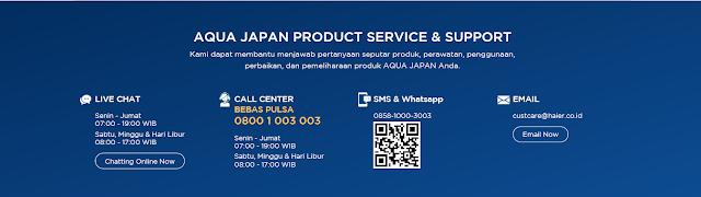 layanan customer service AQUA Japan