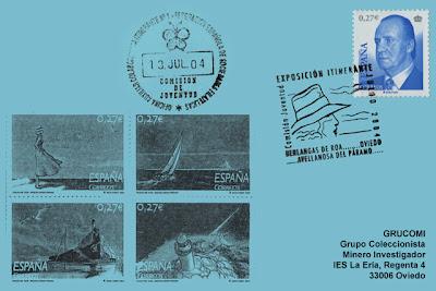 tarjeta, matasellos, exposición, itinerante , epistolar, Oviedo