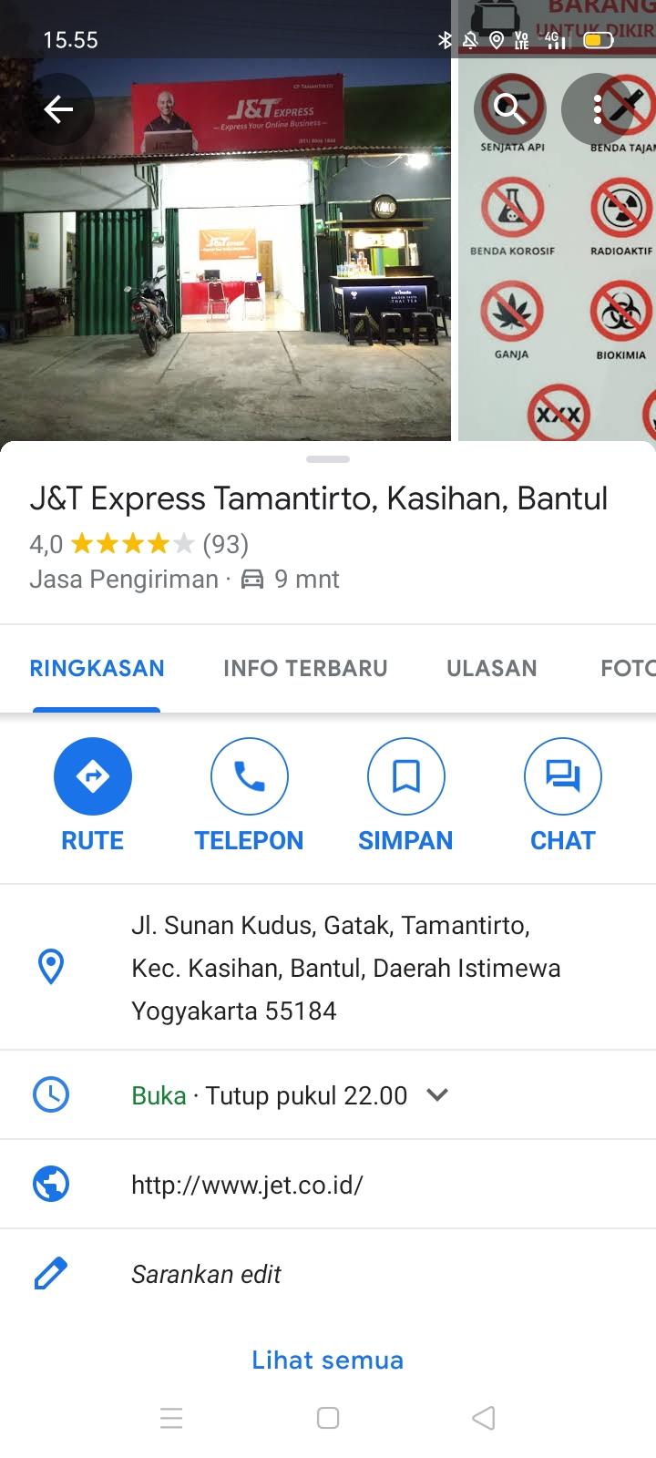 J&T Terdekat dari Lokasi Saya Sekarang