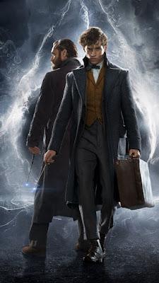 Newt bersama Albus Dumbledore