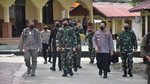 Kunker Panglima TNI dan Kapolri di Sulteng Didampingi Pangdam XIII/Merdeka