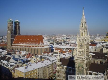 Vistas panorâmicas de Munique - vários lugares para subir e ver a cidade do alto! Torre da St. Peter