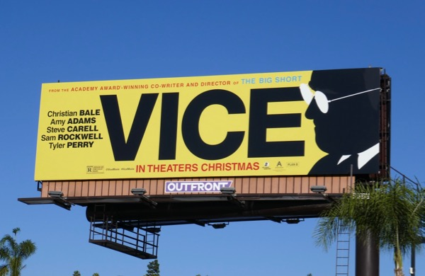 Vice movie billboard