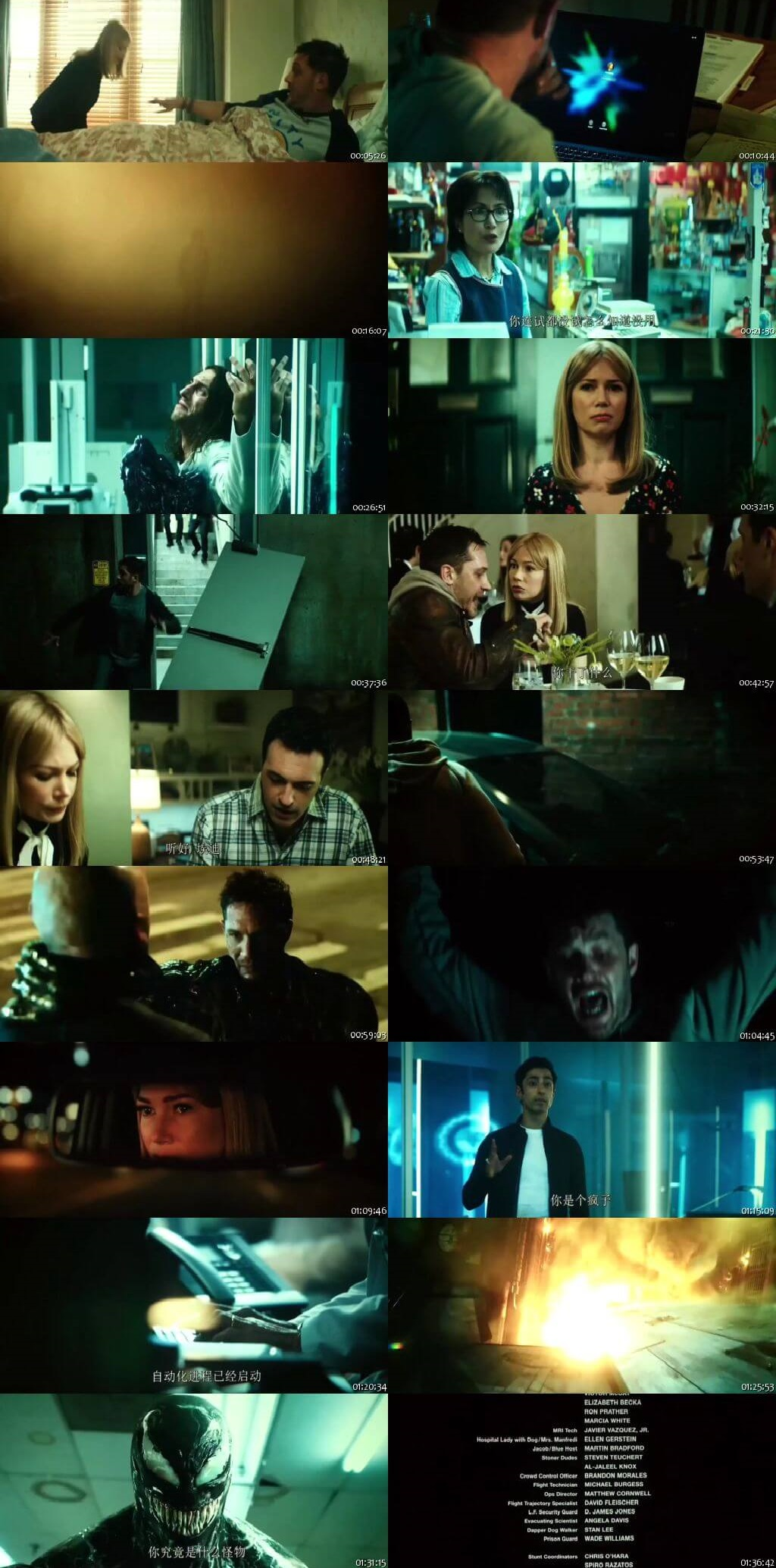 Screen Shot Of Hollywood Movie Venom 2018 Full Movie In Hindi Dubbed Free download 720P HD