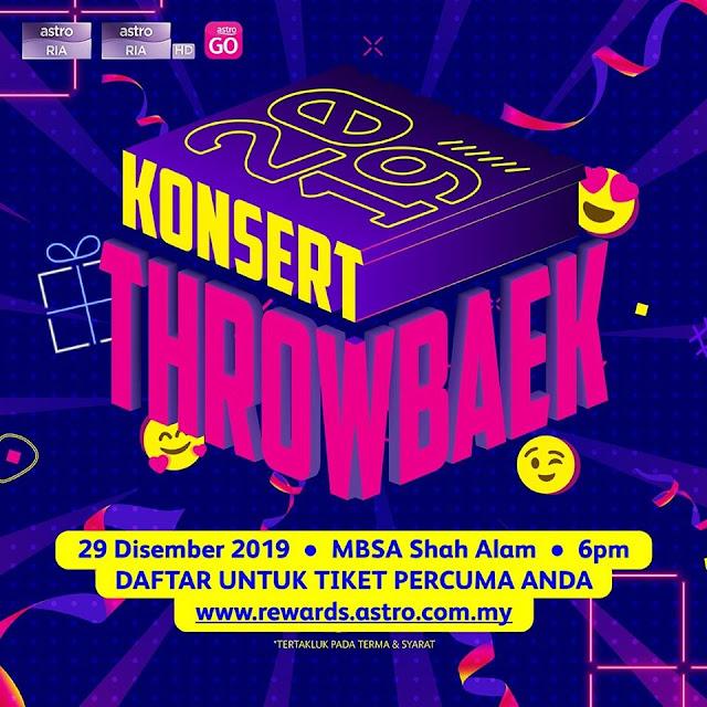 Live Streaming Konsert Throwbaek 2019 (ASTRO) 29.12.2019
