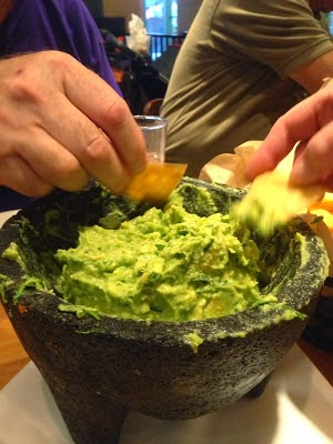 large bowl of guacamole
