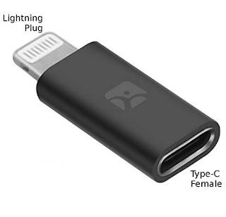 ADATTATORE TYPE-C A LIGHTNING IPHONE