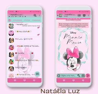 Minnie Cute Theme For YOWhatsApp & Fouad WhatsApp By Natalia Luz
