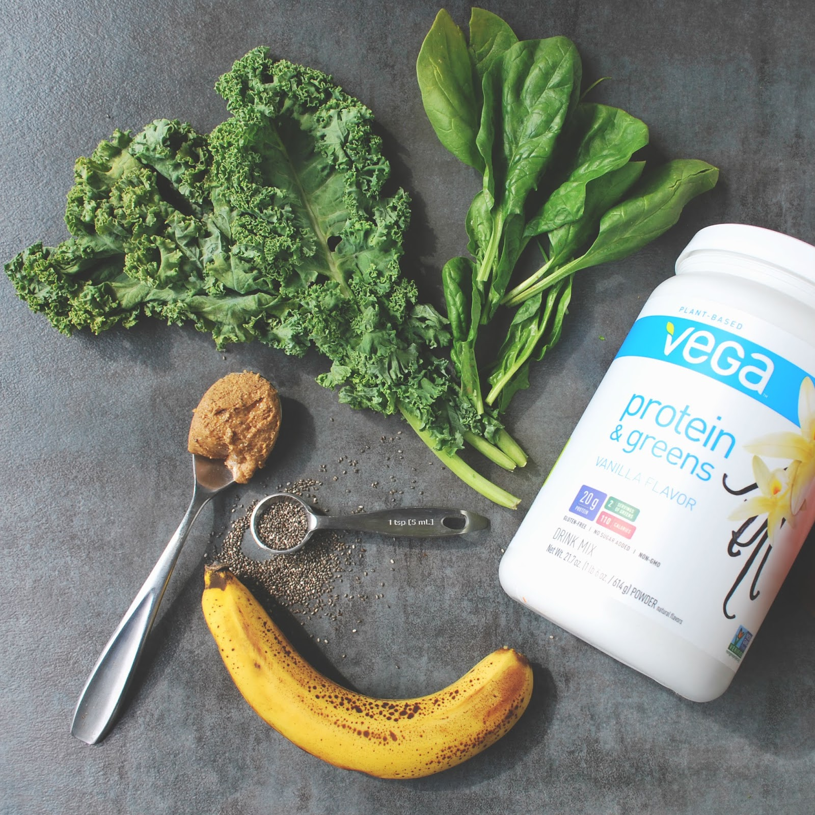 ingredients in the Green Machine Chia Smoothie