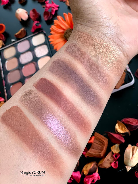Revolution Forever Flawless Allure Far Paleti Son Sıra Swatch Gün Işığı