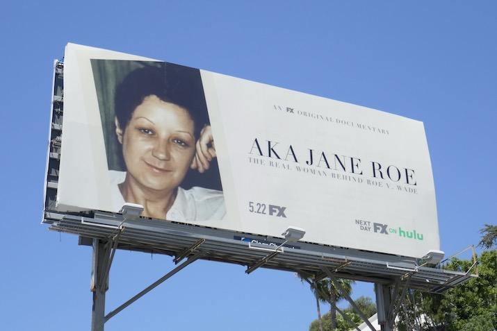 AKA Jane Roe documentary billboard