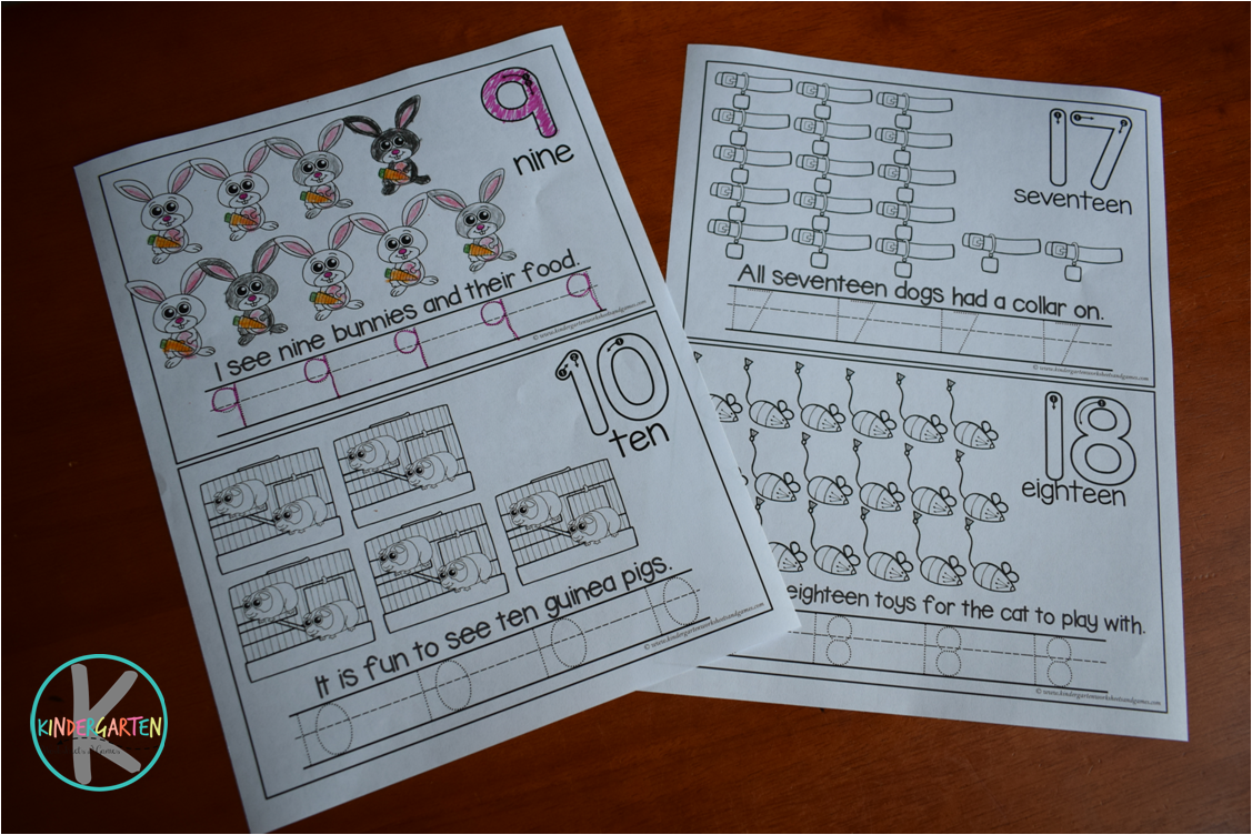 Kindergarten Worksheets and Games: FREE Pet Shop Count to 20 ...